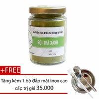 Bột trà xanh trị mụn 100g + Tặng bộ đắp mặt nạ inox - Bảo Nam