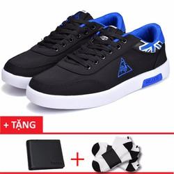 Giày sneaker nam thời trang 9301DE+1 ví nam+2 đôi tất khử mùi