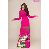 Vải áo dài in hoa giá rẻ