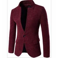 áo khoác blazer cổ trụ Mã: NK1010 - ĐỎ