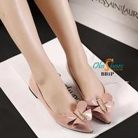 Giày búp bê nữ nơ kim loại - LN1477