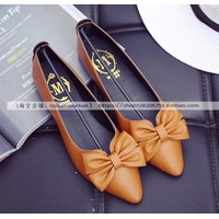 Giày búp bê nữ đính nơ thời trang - LN1478