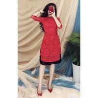 Áo Dài Ren + Váy Đen