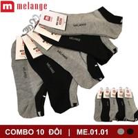 SET 10 đôi tất nam cổ ngắn thể thao Melange
