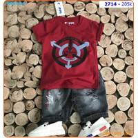 Set bé trai áo thun Urban phối quần jean cho bé trai