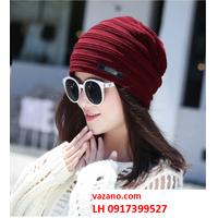 Nón len nữ bere Mũ len nữ bere thời trang Hàn Quốc L12NL32