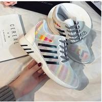 Giày bata lưới cầu vồng màu trắng
