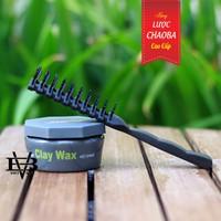 Sáp vuốt tóc Clay Wax công nghệ Pháp +Tặng lược tạo kiểu Chaoba caocấp