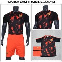 Bộ bóng đá CLB Barca cam thun lạnh cao cấp