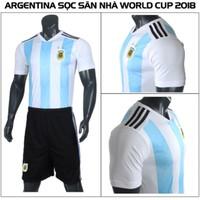 Bộ bóng đá Argentina thun lạnh cao cấp