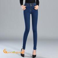 Quần nữ skinny quần jeans nữ lưng cao dáng ôm GLQ054