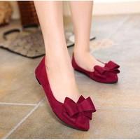 Giày búp bê nữ đính nơ - LN1482