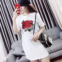 Đầm Thêu Hoa Hồng