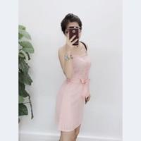 Đầm ren cột nơ