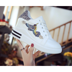 giày sneaker nữ độn trong 8p da cao cấp siêu mềm nhẹ