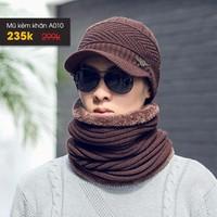 Set mũ len kèm khăn ống cho mùa đông ấm áp