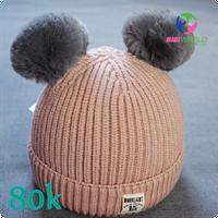 Mũ len quả bông cho bé
