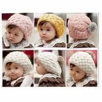 Mũ len nồi cho bé gái