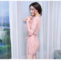 Áo choàng ngủ voan ren sexy thời trang Lâm Anh