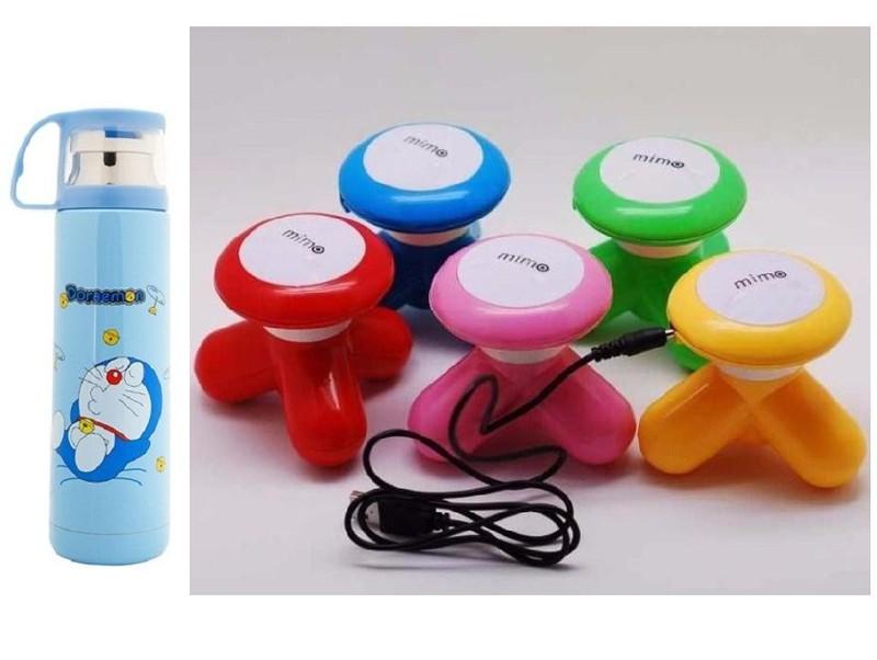 MUA 1 TẶNG 1: Bình giữ nhiệt inox kèm ca- tặng máy massage mini