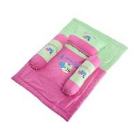 Bộ mền gối mickey xinh xắn cho bé màu xanh hồng