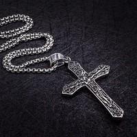 Dây chuyền TITAN chữ thập Chúa Giêsu HDG004-1