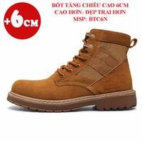 Giày Bốt Nam Tăng Chiều Cao 6Cm - Hàng Loại 1