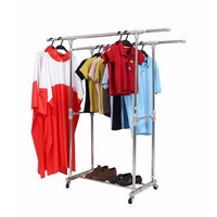 Giá phơi quần áo inox đôi