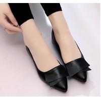 Giày búp bê đế bệt Safira - màu đen