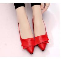 Giày búp bê nữ phối nơ tầng - LN1430