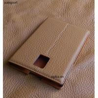 Bao Da IONECASE Blackberry Passport Pro Vàng Bò Nhạt