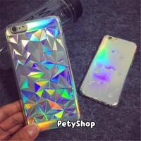 Ốp dẻo kim cương ánh bạc iPhone 6 6S 6Plus 7 7Plus
