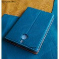 Bao Da IONE Blackberry Passport Silver Edition Da Bò Màu Xanh Trơn