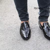 Giày mọi chuông da nam 2012 Tăng chiều cao