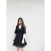Đầm Xoè Phối Ren