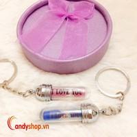 Combo 2 cặp móc khóa đôi đồng hồ cát I Love You candyshop88.vn