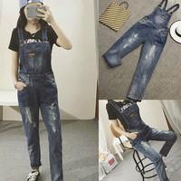 quần jeans yếm BLD rách Mã: QD1247