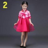 Đầm hanbok cách tân bé gái