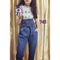 Quần Yếm Jeans Thắt Lưng Siêu Đẹp