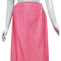 Váy chống nắng-nền hồng tim trắng