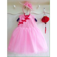 Đầm dạ hội cổ tàu băng đô lông vũ