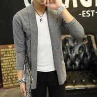 áo khoác len dạo phố Mã: NK0914 - XÁM