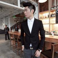 áo khoác blazer nam tính Mã: NK0972 - ĐEN