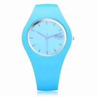 Đồng hồ nữ  dây cao su mềm mại cao cấp SK111 Xanh dương