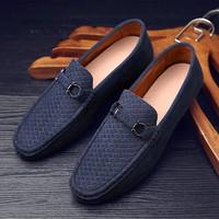 Giày lười nam da lộn-GL6A
