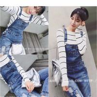 quần jeans yếm nữ rách Mã: QD982