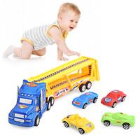 Bộ đồ chơi xe tải hạng nặng chở xe con cho bé