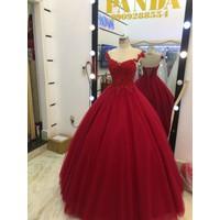 áo cưới đỏ búp be diu dàng như công chúa