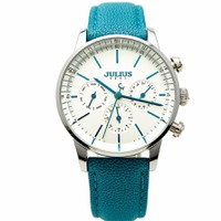 Đồng hồ Nữ JULIUS JU1066 chạy 6 kim Xanh Thiên Thanh