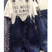 quần short jeans yếm Mã: QN735